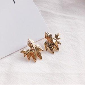 Jewelry - 🎈Gold Leaf Chic Stud Earrings